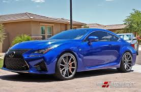 lexus gsf custom 20 inch staggered vossen vfs1 matte graphite on 2016 lexus rc f w