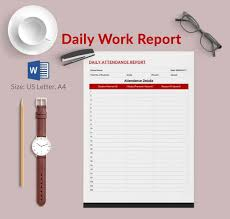 Project Daily Status Report Template Excel Daily Report Template 57 Free Word Excel Pdf Documents