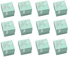 robin egg blue gift boxes glitterymall 12pcs robins egg blue cardboard cube jewelry ring