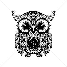 intricate owl design vector image 1544053 stockunlimited