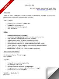 Best Nanny Resume Example Livecareer by Infant Nanny Resume Resume Templates