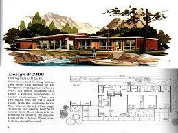 Midcentury Modern House Plans - baby nursery mid century ranch home plans vintage house plans