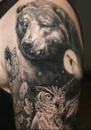 realistic monochrome animal tattoo by sergio sanchez design of