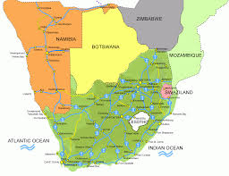 Africa Map Of Countries by South Africa And Adjacent African Countries With Friendstravel Com