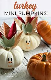 turkey pumpkins turkey mini pumpkins craft an easy thanksgiving craft