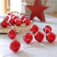 chinese red led battery lights string festival christmas ball