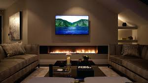 flat screen tv over fireplace designs interior design modern gas