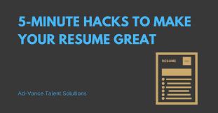 Make Your Resume Resume Tips Ad Vance