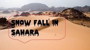 first sahara desert snow in 40 years ain safra algeria 2017