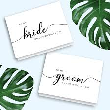 To My Bride Card Wedding Day Card Gift For Groom Groom To Bride Card Gift