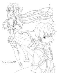 sword art coloring pages omeletta