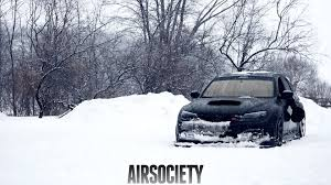 rally subaru wallpaper subaru sti te 37 te37 bagged air suspension snow airsociety