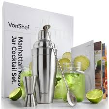 martini shaker set vonshef manhattan cocktail shaker set with mason jars domu co uk