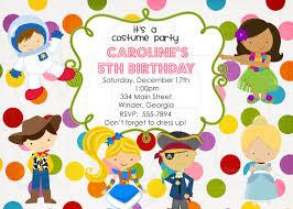 Invitation Card Party Birthday Costume Party Birthday Invitations Vertabox Com