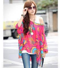 korean fashion clothing bohemian chiffon shirt women ethnic