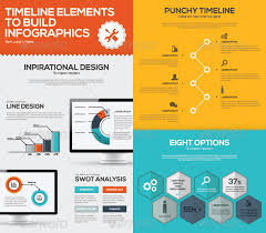timeline infographic business vector set timeline infographic