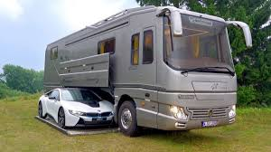 Rv With Car Garage This 1 7 Million Motorhome Comes With Its Own Supercar Garage