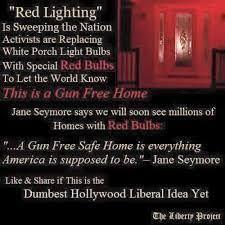 Light Show Meme - fact check do red lights outside homes indicate anti gun solidarity