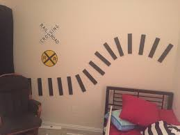 train room diy wall tracks cherish how awesome super easy tutorial for making diy wall train tracks perfect