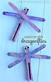 Garden Crafts For Children - popsicle stick dragonfly spring craft for kids dragonflies