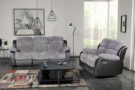 Grey Leather Reclining Sofa by Stylish Modular Grey Recliner Sofa Furniture For Living Room