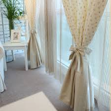 Teal And Beige Curtains Cute Country Beige Curtains Of Floral Poly And Cotton Buy Beige