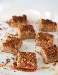 cuisine rhubarbe carrés fraise rhubarbe clea cuisine