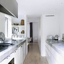 narrow kitchen design with modern space saving design narrow