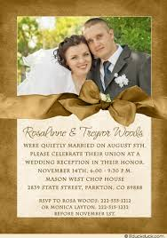 Reception Samples Reception Printed Text Photo Wedding Reception Invitation Couple Celebrate