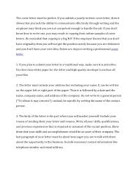 a written cover letter writing covering letters importance of