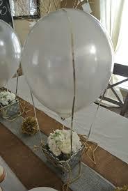 hochzeitsdekoration basteln für die tischdeko einen heißluftballon basteln kommunion