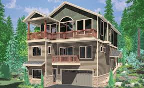 narrow lake house plans house plans for back sloping lots up in the rear designed modern