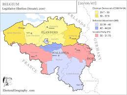 belgium in the map belgium legislative election 2007 electoral geography