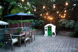String Lighting For Patio Backyard Iyn Pole Stand Patio Lighting String How To Hang String