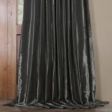 hematite blackout extra wide faux silk taffeta curtain