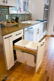 Kitchen Cabinet Garbage Drawer Best 25 Trash Can Cabinet Ideas On Pinterest Cabinet Trash Can