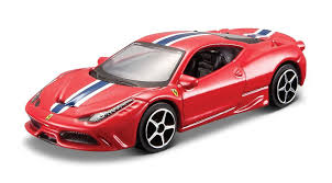 toy ferrari 458 bburago 1 43 scale ferrari race and play diecast car red 458