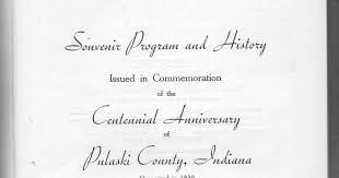 centennial celebration souvenir booklet rensselaer adventures pulaski centennial