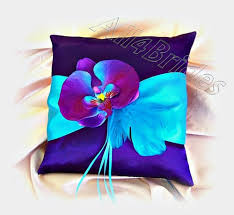purple guest book purple and turquoise orchid wedding guest book and pen set