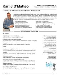 Resume Samples Pic by Presenter U0026 Announcer Resume