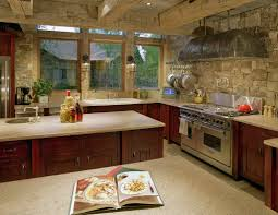 Stone Backsplashes For Kitchens by Stone Kitchen Interior Decoration Ideas Small Design Ideas