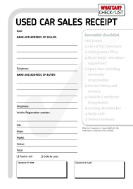 vehicle sales invoice template free to do listal car receipt word