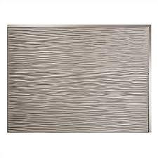 Fasade Kitchen Backsplash Fasade Easy Installation Ripple Brushed Nickel