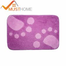 Purple Bathroom Rugs 40x60cm 15 7 Wx23 6 L Purple Bath Mat Big Non Slip
