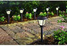 hampton bay bronze solar led pathway outdoor light 6pack garden