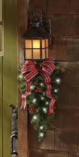 christmas swags for outdoor lights christmas outdoor light greenery christmas pinterest garage