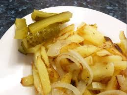 russian style pan fried potatoes with onions eastern european