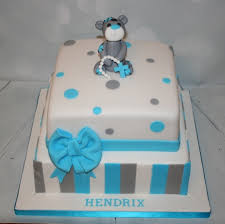square blue grey christening cake boy babyshower pinterest