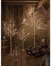 event prop hire led white birch tree 10ft warm white lights