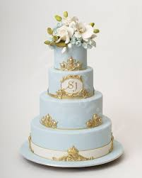 wedding cake inspiration ron ben isreal cakes ice blue gold